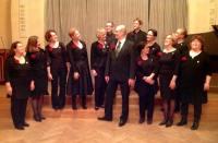 Kansallis-Kuoro joulukonsertissa Hotelli Arthurin juhlasalissa 9.12.2014
