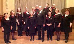 Kansallis-Kuoro Hotelli Arthurin juhlasalissa 9.12.2014