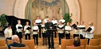 Kansallis-Kuoron kevätlaulelot 28.5.2015 Hotelli Arthurin juhlasalissa. Teppo Lampela johtajana ja solistina.