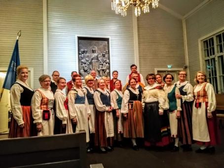 Kansallis-Kuoro 110 vuotta. Juhlakonsertti Oulunkylän vanhassa kirkossa 6.11.2018. Kuva Panu Pahkamaa